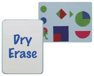 Flipside Flannel And Dry Erase Board 24 X 36 In Blue