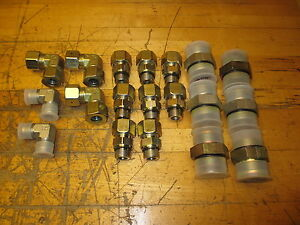 Parker Hydraulic Fittings Lot Of 19 Misc Eo Jic Sae E0 new