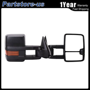 For 03 06 Chevy Silverado Sierra Power heated turn Signal Tow Mirrors Left right