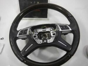 2013 Mercedes Benz Gl450 Steering Wheel W Wood 1664600603 9e38 Opt May Vary