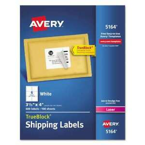 Avery Shipping Labels With Trueblock Technology Laser 3 1 3 X 072782051648
