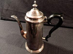 Vintage Coffee Tea Pot Silver Plated Webster Wilcox Intl Silver Co