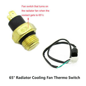 Radiator Fan Thermal Sensor Switch For 250cc Water Cooled Atv Quad Scooter Moped