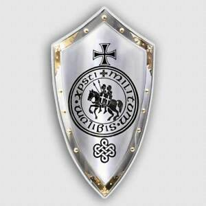 Decal Knights Of Templar Shield Sticker Legendary Military Warfare Christ Defend