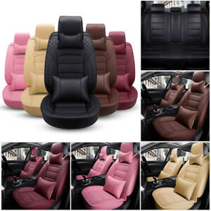 Full Deluxe Car Suv Seat Cover Front Rear Cushion Universal Pu Leather 4 Seasons