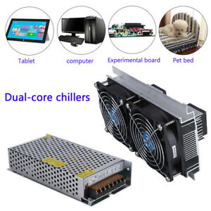 120w 10a 2 Core Refrigeration Thermoelectric Peltier Air Cooling Cooler Us Plug
