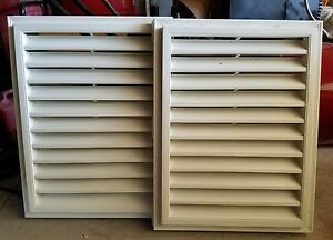 Lot Of 2 Gable Vents 18x24 White