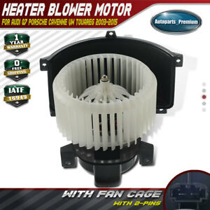 A C Heater Blower Motor W Fan Cage For Audi Q7 Volkwagen Touareg 7l0820021q