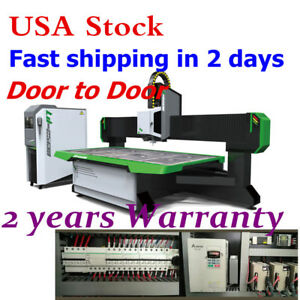 Usa 9kw 3axis Air Cooling Wood Cnc Router Machine 98 X 51 With Vacuum System
