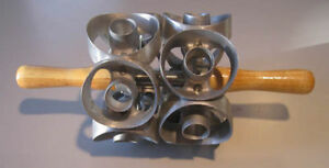 New 2 3 4 Size Two Row Donut Cutter Cuts 12 Cuts Replace Moline Houpt