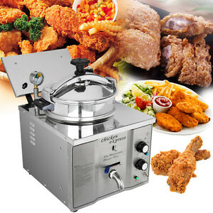 3kw 16l Stainless Cooking Countertop Pressure Fryer Control Temperature 50 200