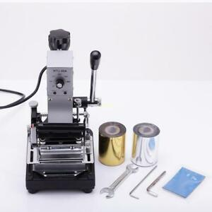 Stamping Machine Hot Foil Stainless Steel W 2 Foil Paper Leather Cloth Id Pvcs