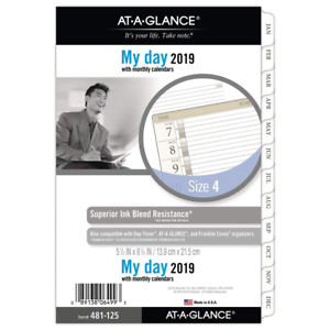 At a glance 2019 Daily Planner Refill Day Runner 5 1 2 X 8 1 2 Desk Size 4