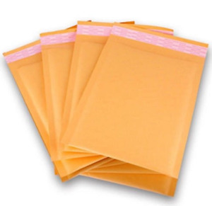 6 5 X 10 250pcs Bubble Envelopes Mailers Laminated Water Proof Kraft Paper Light