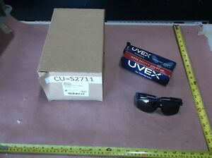 Uvex Astrospec 3000 S S2711 Safety Glasses With Smoke Lens Blue Frame qty 10