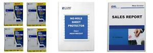 C line Top Loading Heavyweight Poly No hole Sheet Protectors 8 5 X 11