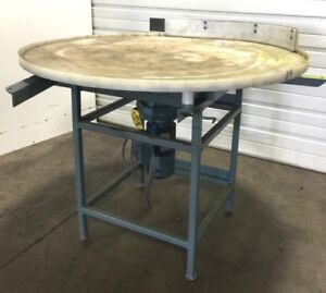 48 Industrial Part Accumulation Rotary Table Sew Dependable Equipment Hytek
