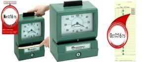 Acroprint 125rr4 Heavy Duty Manual Time Recorder For Month Date Hour