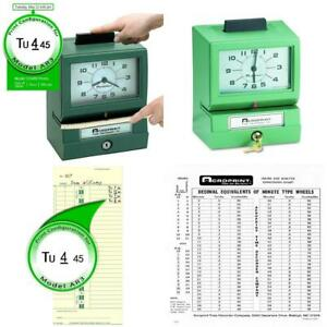 Acroprint 125ar3 Heavy Duty Manual Time Recorder For Day Of The Week Hour