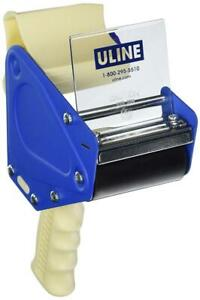 New Uline H 596 Packing Tape Dispenser Gun Original Version White blue
