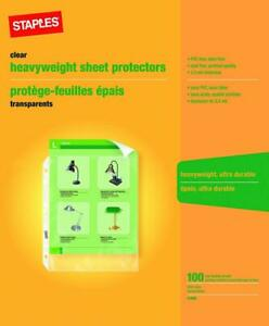 Staples Heavy duty Sheet Protectors 100 Sheets Letter Size