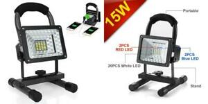 Led Work Light With Magnetic Stand 15w 24 Rechargeable Shop Portable Outdoor
