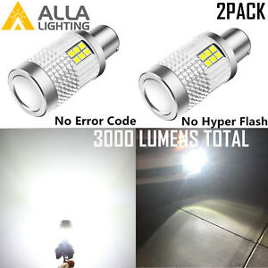 Alla Lighting Led 1156 Canbus Turn Signal Blinker No Hyper Quick Flash Fast Ohm