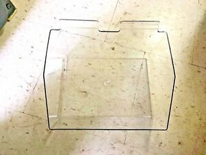 Rpdmp 129555 Case Of 5 Double wide Gridwall Clear Plastic Bins 12 X 9 1 2 X 5 5