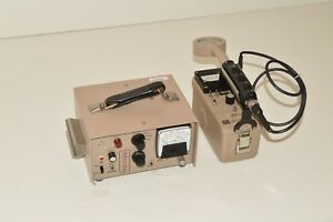 Ludlum Model 2 Radiation Detector Benchtop Counter 177 Geiger Meter 44 9 Probe