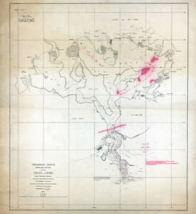 1873 Map Of Pearl Lochs Oahu Hawaiian Islands