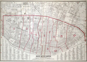 1870 Map Of City Of St Louis Missouri