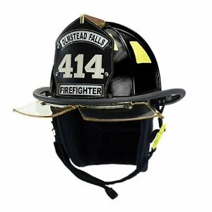 Cairns 1044 Helmet Black Nfpa Osha 1044 W 4 Faceshield Deluxe Black