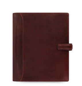 Filofax A5 Size Lockwood Organiser Planner Diary Book Garnet Red Leather 021689