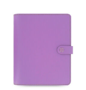 Filofax A5 Original Organiser Planner Notebook Diary Book Lilac Leather 022399