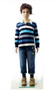 Teenager Boy Plastic Mannequin Realistic Clothing Dress Form Retail Display New