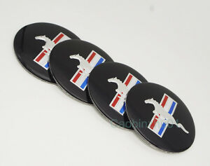 4pcs 56 5mm Car Mustang Logo Wheel Center Caps Covers Emblems Sticker For Ford
