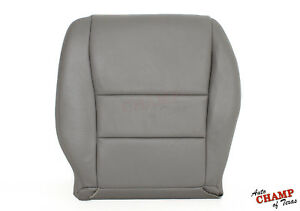 2004 2005 Honda Accord 4 Dr Ex Se Lx Driver Side Bottom Leather Seat Cover Gray