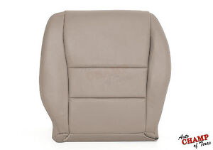 2006 Honda Accord 4 Door Ex Se Lx Driver Side Bottom Leather Seat Cover Tan