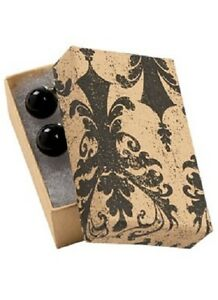 Jewelry Boxes 100 Tan Black Damask 2 1 2 X 1 1 2 X 7 8 Print Cotton Filled