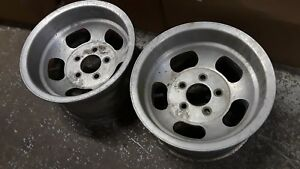 14x8 Ansen Sprint Slot Vintage Mag Wheels Chevy Gm 5 Lug 5x4 75