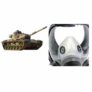 Full Face Respirator Anti dust Chemical Safety Gas Mask With Cotton Filter Sr