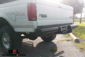Ranch Hand Bbf928bls Legend Series Black Pc Rear Bumper For 1981 1996 Ford F 150