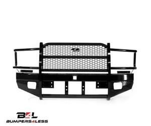 Ranch Hand Fbd105blrs Blk Winch Ready Front Bumper For 10 18 Dodge 2500 3500