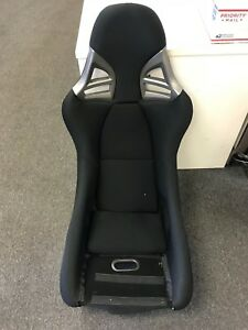 Porsche 997 Gt3 Style Racing Single Seat Black Cloth W Black Frp Euro Gt2 Flaw