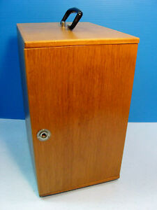 Vintage Microscope Wooden Carrying Case Box