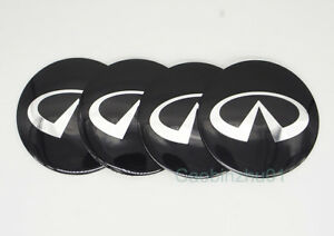 4pcs 56 5mm Car Logo Wheel Center Caps Covers Emblems Stickers For Infiniti