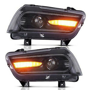 For Dodge Charger 2011 2014 Sequential Turn Indicator Headlights Led 2015 Model