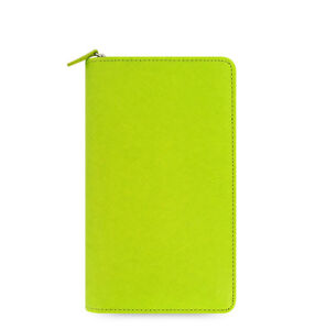 Filofax Saffiano Compact Zip Organiser Planner Diary Book Pear Leather 022537