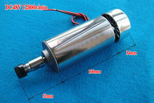 New 400w Air Cooled Spindle Motor Engraving Milling Dc 12v 48v 12000rpm 3 175mm
