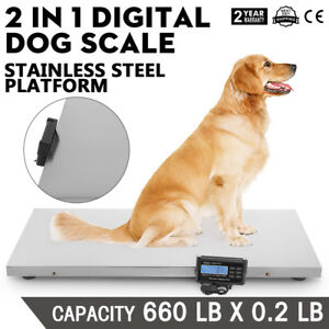 660lb Digital Livestock Vet Scale Hog Pet Dog Sheep 120v Ac Tare Function
